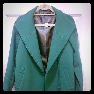 J. Crew kelly green wool coat